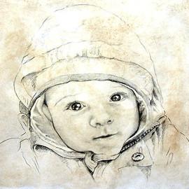 Portrait vom Foto, Baby-Portraitzeichnung, Karin Scholz, Portraitzeichnung 2