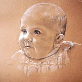 Portrait vom Foto, Babyportrait-Zeichnungen, Karin Scholz, Portraitzeichnung 3