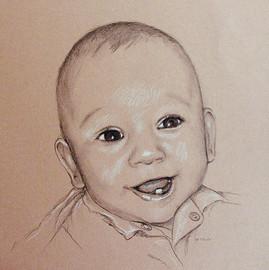 Portrait vom Foto, Babyportrait, Karin Scholz, Portraitzeichnung 5