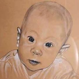 Portrait vom Foto, Babyportrait, Karin Scholz, Portraitzeichnung 6